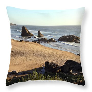 Bandon Beachfront Throw Pillow
