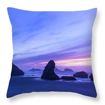 Bandon Blue Hour Throw Pillow