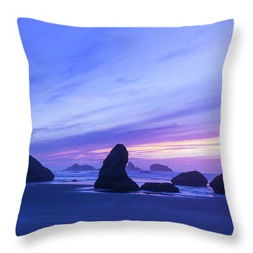 Bandon Blue Hour Throw Pillow