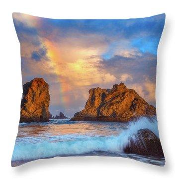 Bandon Rainbow Throw Pillow by Darren White
