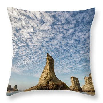 Bandon Sea Stacks Throw Pillow