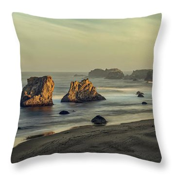 Bandon Sunrise Pano Throw Pillow