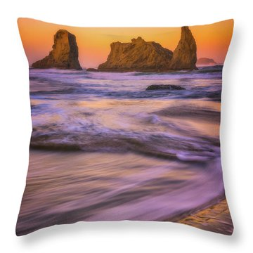 Throw Pillow featuring the photograph Bandon's Breath by Darren White