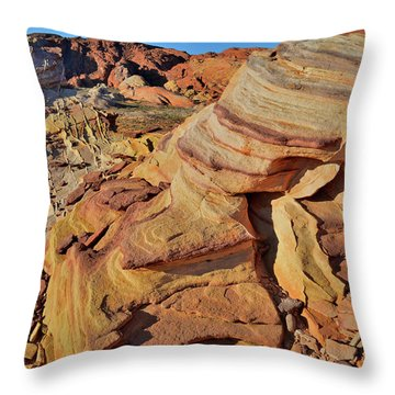 Bands Of Colorful Sandstone In Valley Of Fire Throw Pillow