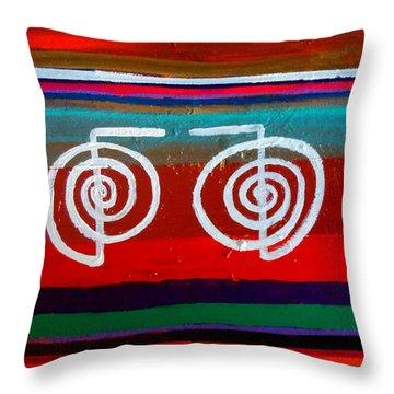 Bands Of Healing Two Cho Ku Rei's Throw Pillow by Rizwana Mundewadi