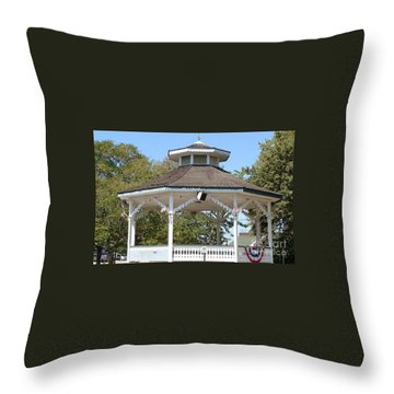 Bandshell In Plymouth, Mass Throw Pillow by Rod Jellison