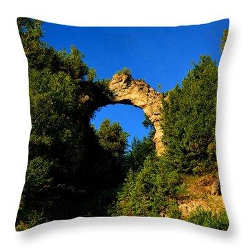 Beneath Arch Rock Throw Pillow