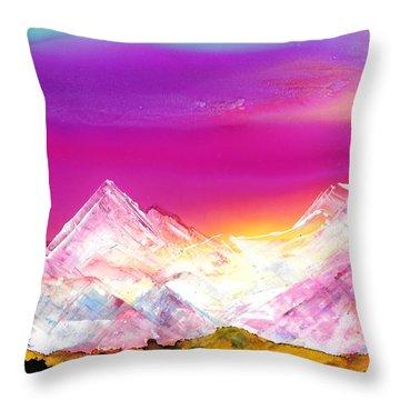 Banff At Dusk Throw Pillow