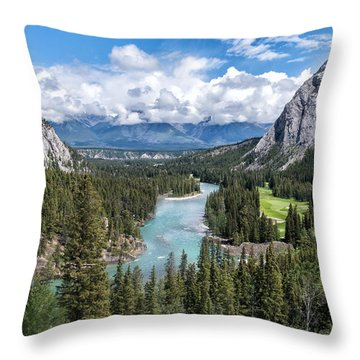 Banff - Golf Course Throw Pillow