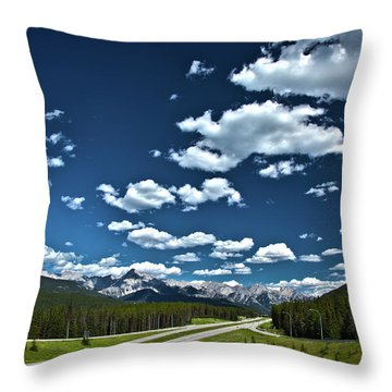 Banff Junction Throw Pillow