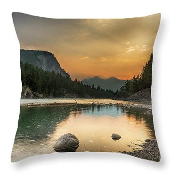 Banff Sunrise Throw Pillow
