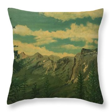 Throw Pillow featuring the painting Banff by Terry Frederick