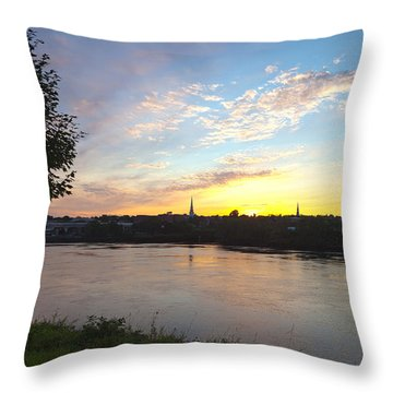Bangor Sunset Throw Pillow