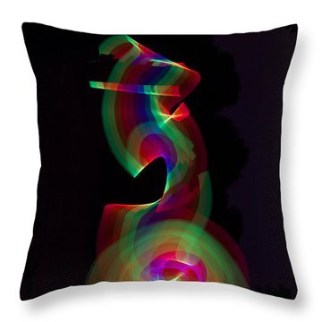 Banished By Light Throw Pillow by Xn Tyler