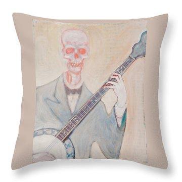 Banjo Bones Throw Pillow
