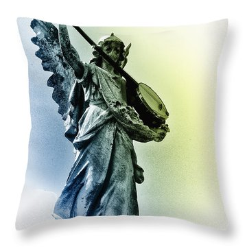Banjo Heaven Throw Pillow by Bill Cannon