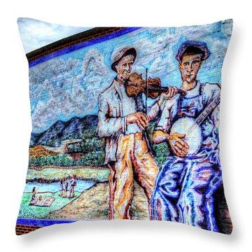 Banjo Mural Throw Pillow