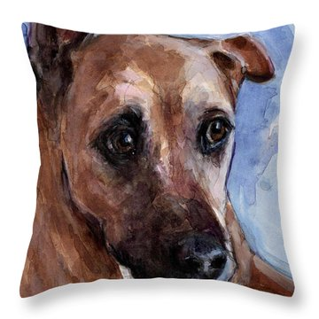Throw Pillow featuring the painting Banks by Molly Poole