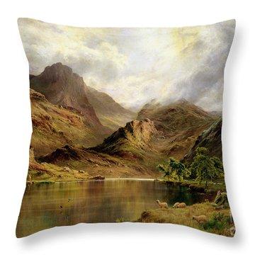Banks Of Arrochar Throw Pillow by Alfred de Breanski