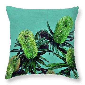 Banksias Throw Pillow