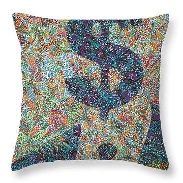 Bankster  Throw Pillow by Erika Pochybova