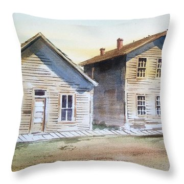 Bannack Ghost Town Montana Throw Pillow by Kevin Heaney