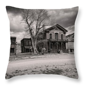 Throw Pillow featuring the photograph Bannack Montana Ghost Town by Scott Read