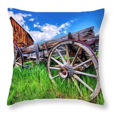 Bannack Wagon Throw Pillow