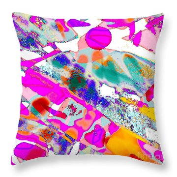 Banner In The Breeze Throw Pillow by Expressionistart studio Priscilla Batzell