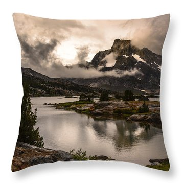 Banner Peak In A Clearing Storm Throw Pillow by Joe Doherty