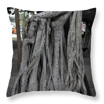 Banyan Tree, Maui Throw Pillow