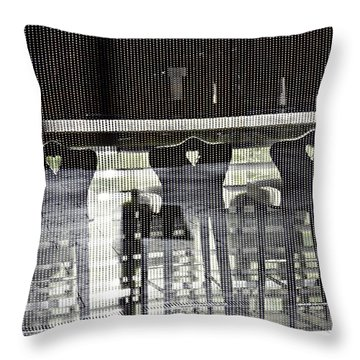 Throw Pillow featuring the photograph Bar And Stools by Sarah Loft