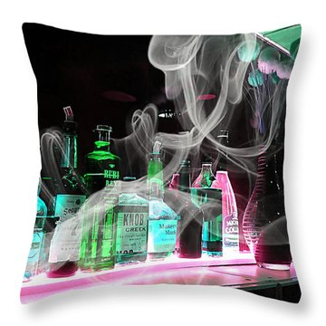 Bar Collection Throw Pillow by Marvin Blaine