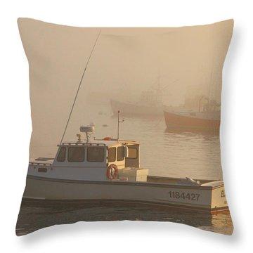 Bar Harbor Fleet Throw Pillow