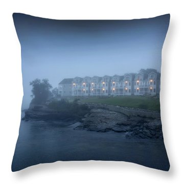 Bar Harbor Inn - Stormy Night Throw Pillow by Brendan Reals