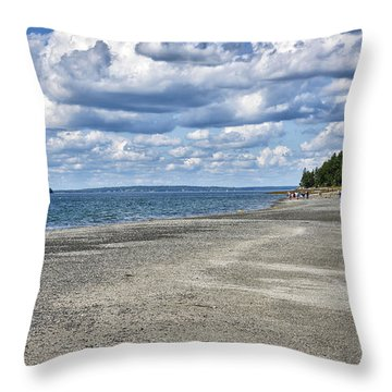 Bar Harbor - Land Bridge To Bar Island - Maine Throw Pillow by Brendan Reals