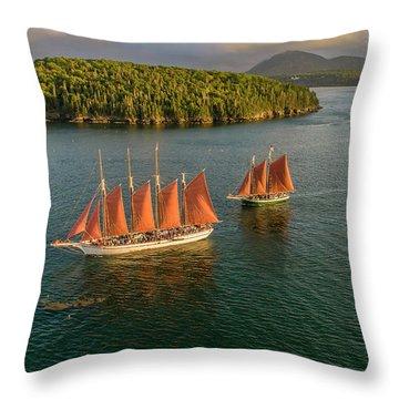 Sailing Thru Life The Downeast Way Throw Pillow