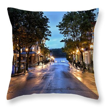 Bar Harbor - Main Street Throw Pillow