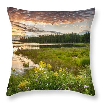 Throw Pillow featuring the photograph Bar Harbor Maine Sunset One by Kevin Blackburn