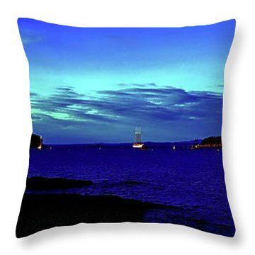 Throw Pillow featuring the photograph Bar Harbor, Maine Sunset Cruse  by Tom Jelen