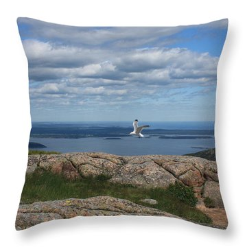 Bar Harbor View From Cadillac Throw Pillow