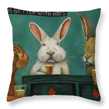Bar Hopping Throw Pillow