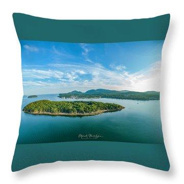 Bar Island, Bar Harbor  Throw Pillow