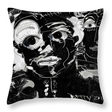 Bar Scene Throw Pillow