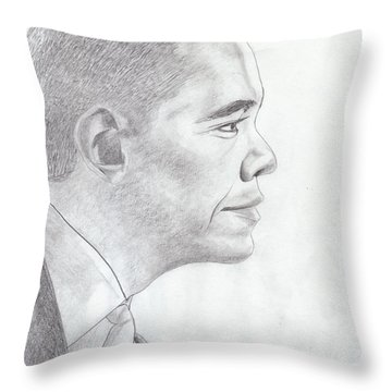 Barak Obama Throw Pillow