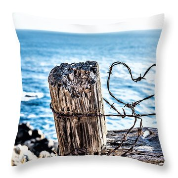 Barb Wire Heart Throw Pillow