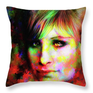 Barbara Streisand Throw Pillow