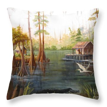 Barbara's Bayou II Throw Pillow