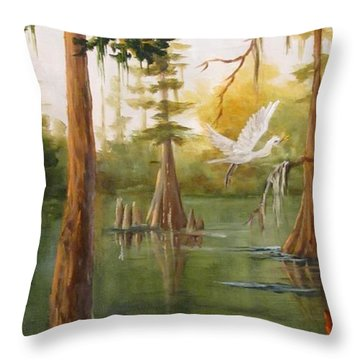 Barbara's Bayou IIi Throw Pillow