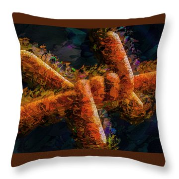 Barbed Throw Pillow by Paul Wear